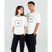 Y-3 REFLECTIVE SQUARE LOGO SHORT SLEEVE TEE